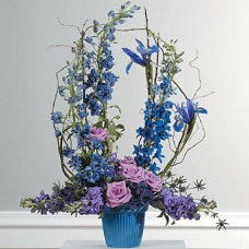 Blue/ Purple Mache Arrangement