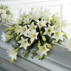 Casket Spray of Easter Lilies