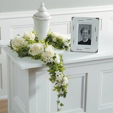 Garland for Urn in White